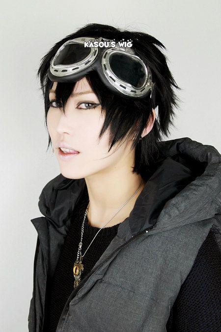 Karneval Gareki short black layers cosplay wig / men wig / daily wig/ on  Etsy