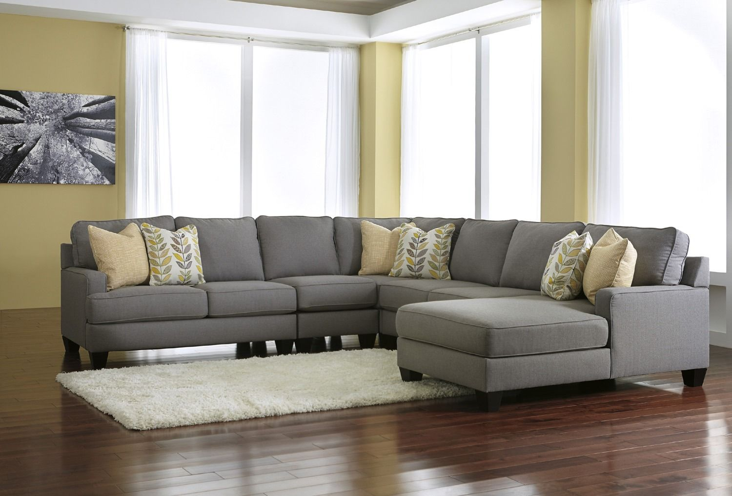 Chamberly 3 Piece Sectional in Gray by Ashley - Home Gallery Stores $1,280