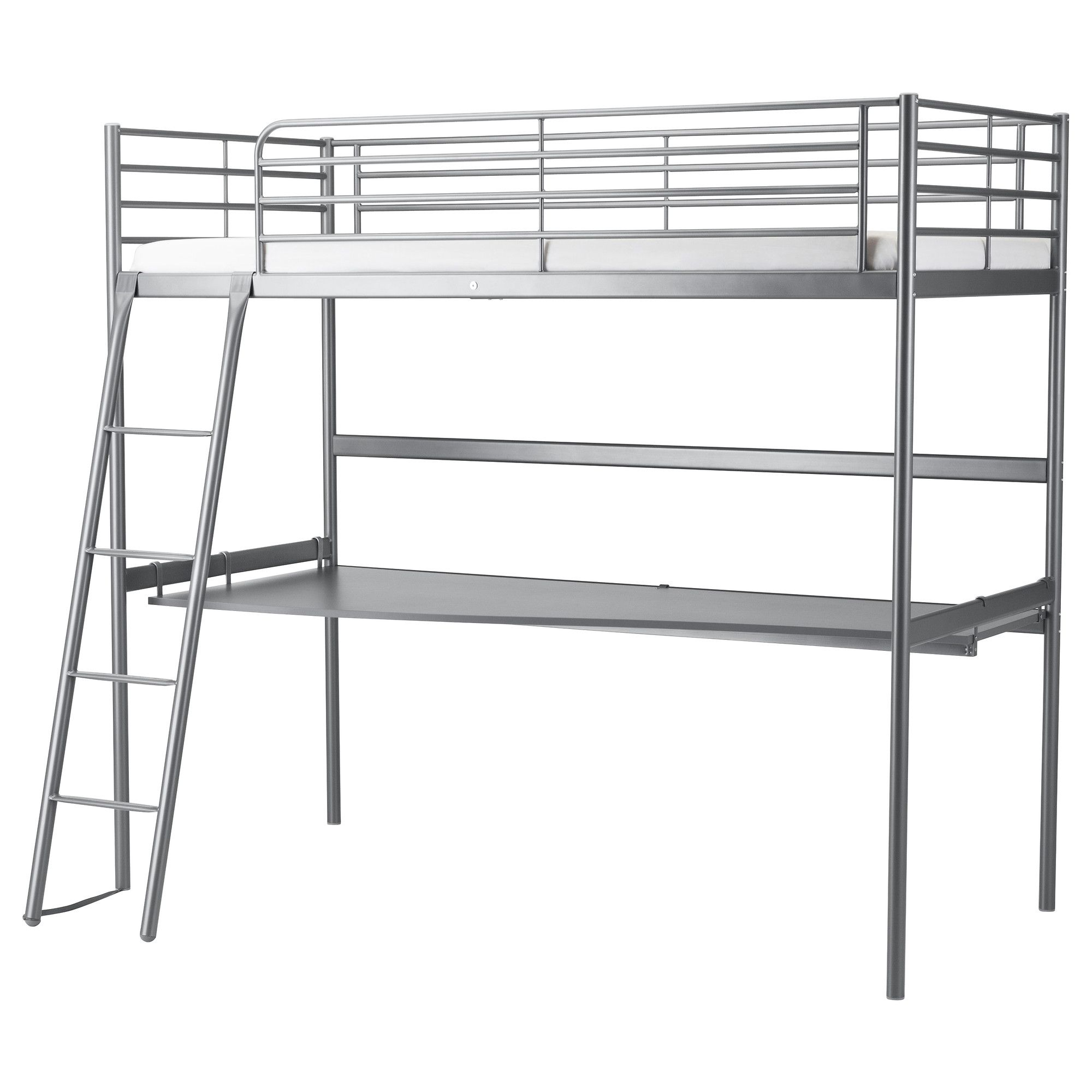 svÄrta loft bed frame with desk top - ikea | wants | loft bed frame