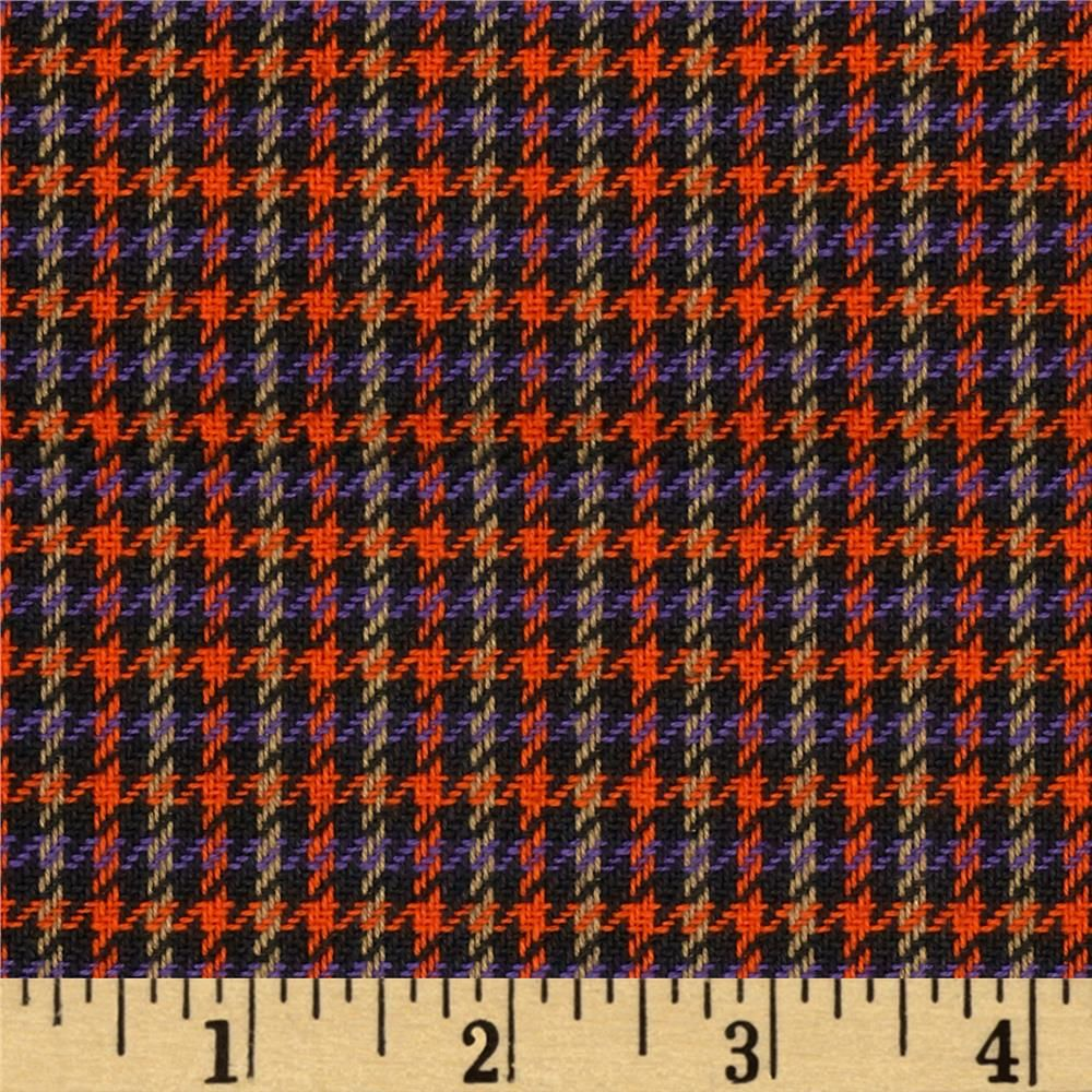 Small Woven Houndstooth Black/Orange/Purple from @fabricdotcom ...