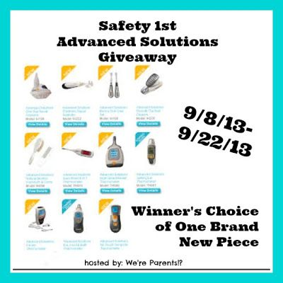 Safety 1st Advanced Solutions Giveaway - Winner's Choice of One Piece