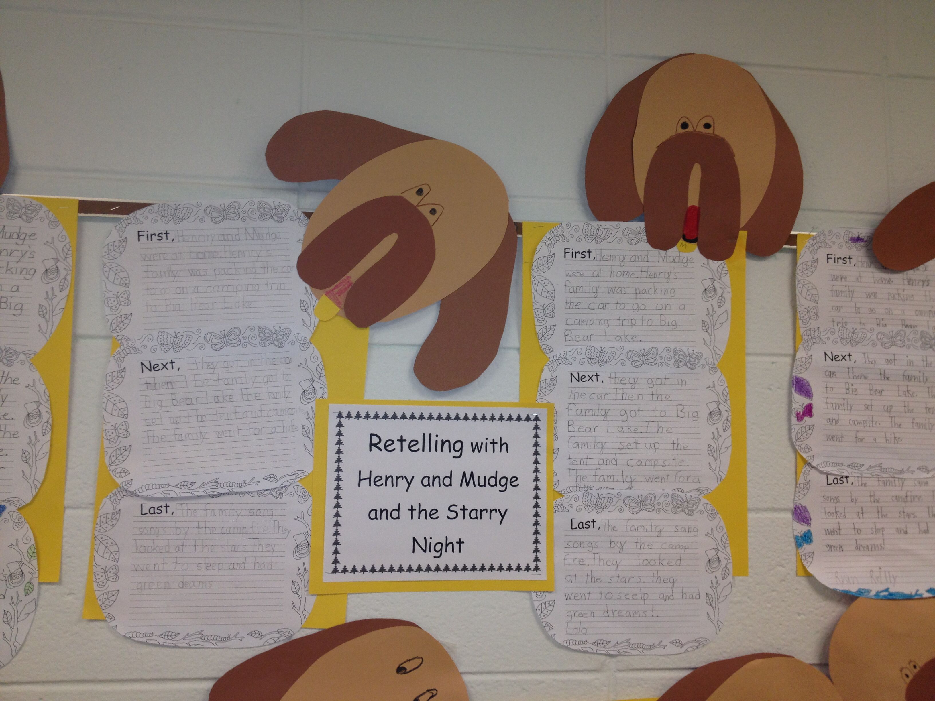 Retelling With Henry And Mudge