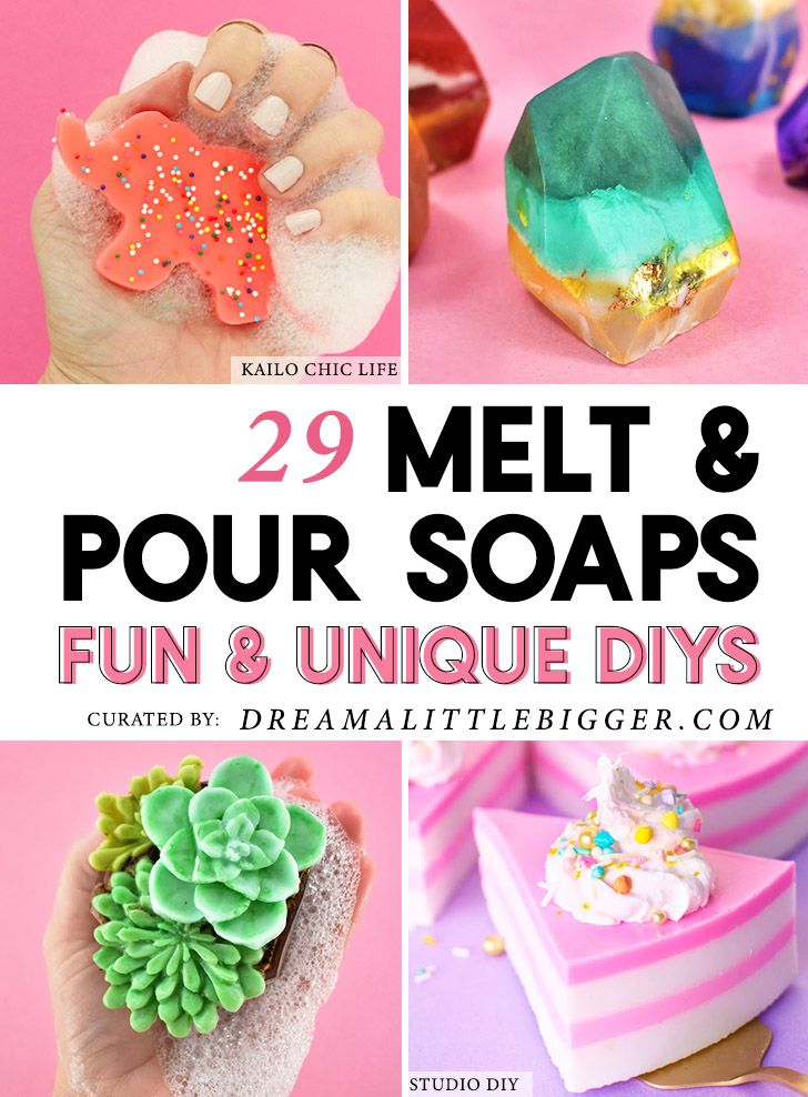 29 DIY Fun and Colorful Melt and Pour Soaps