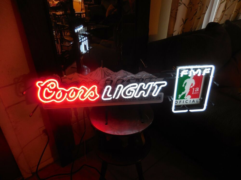 Coors Light Neon Tube Light Sign Cerveza Patrocinadora Futbol Fmf 2010 39 L Coors Light Neon Tube Lights Coors