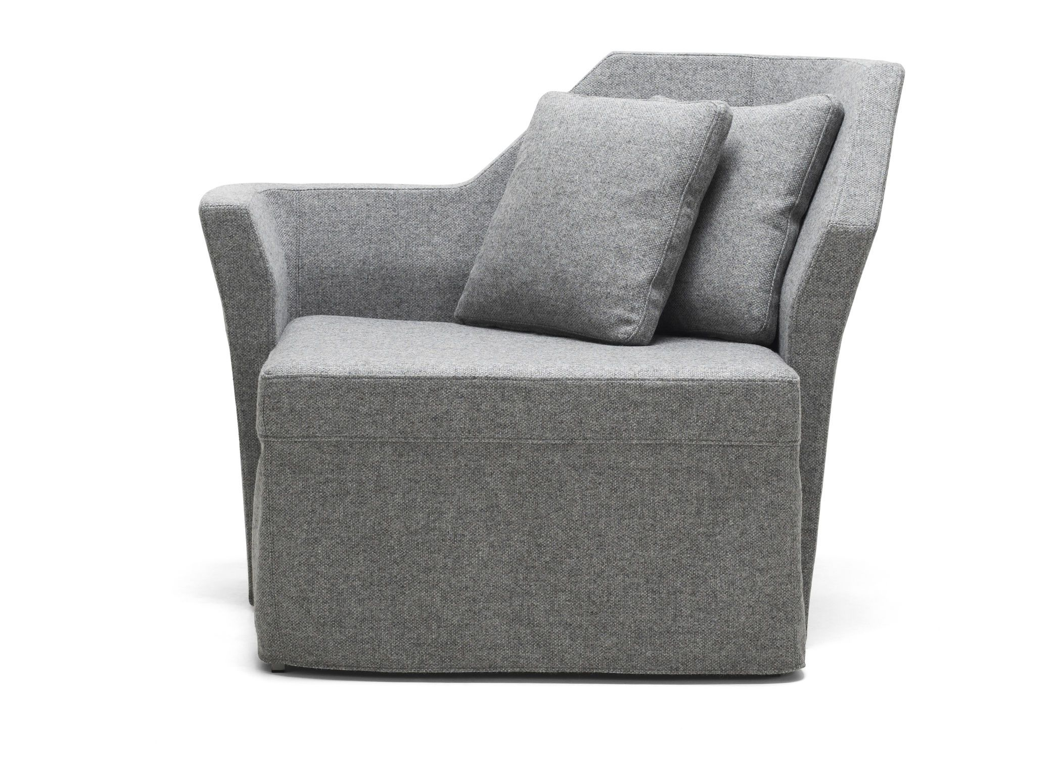 Lovely Gray Fabric Single Arm Chair Bed Modern Design In Teal .