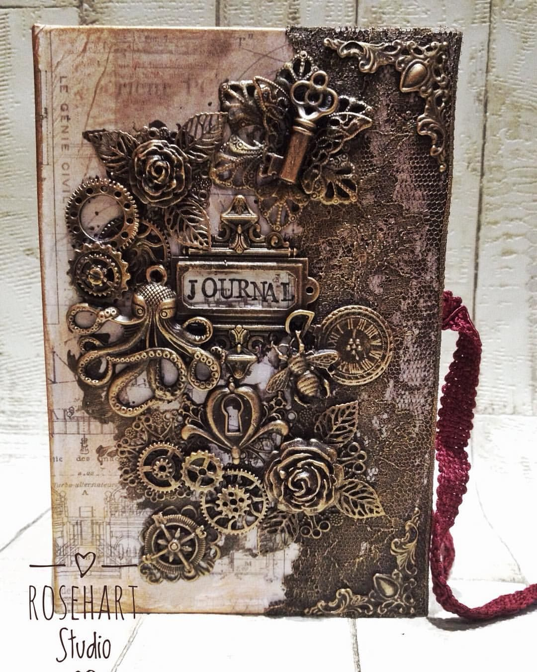 Metal Embellishments Corners  for Memory Books Mixed Media Canvas Journals