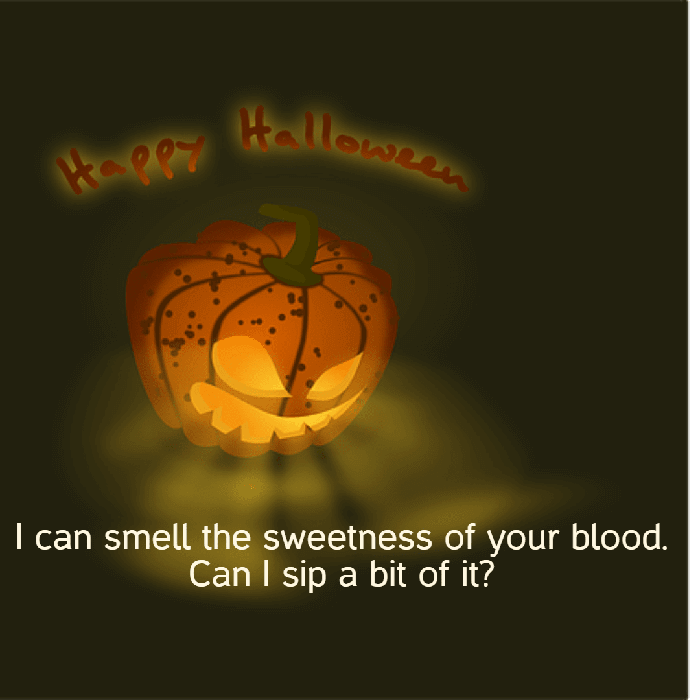 Romantic Halloween Quote One Liner