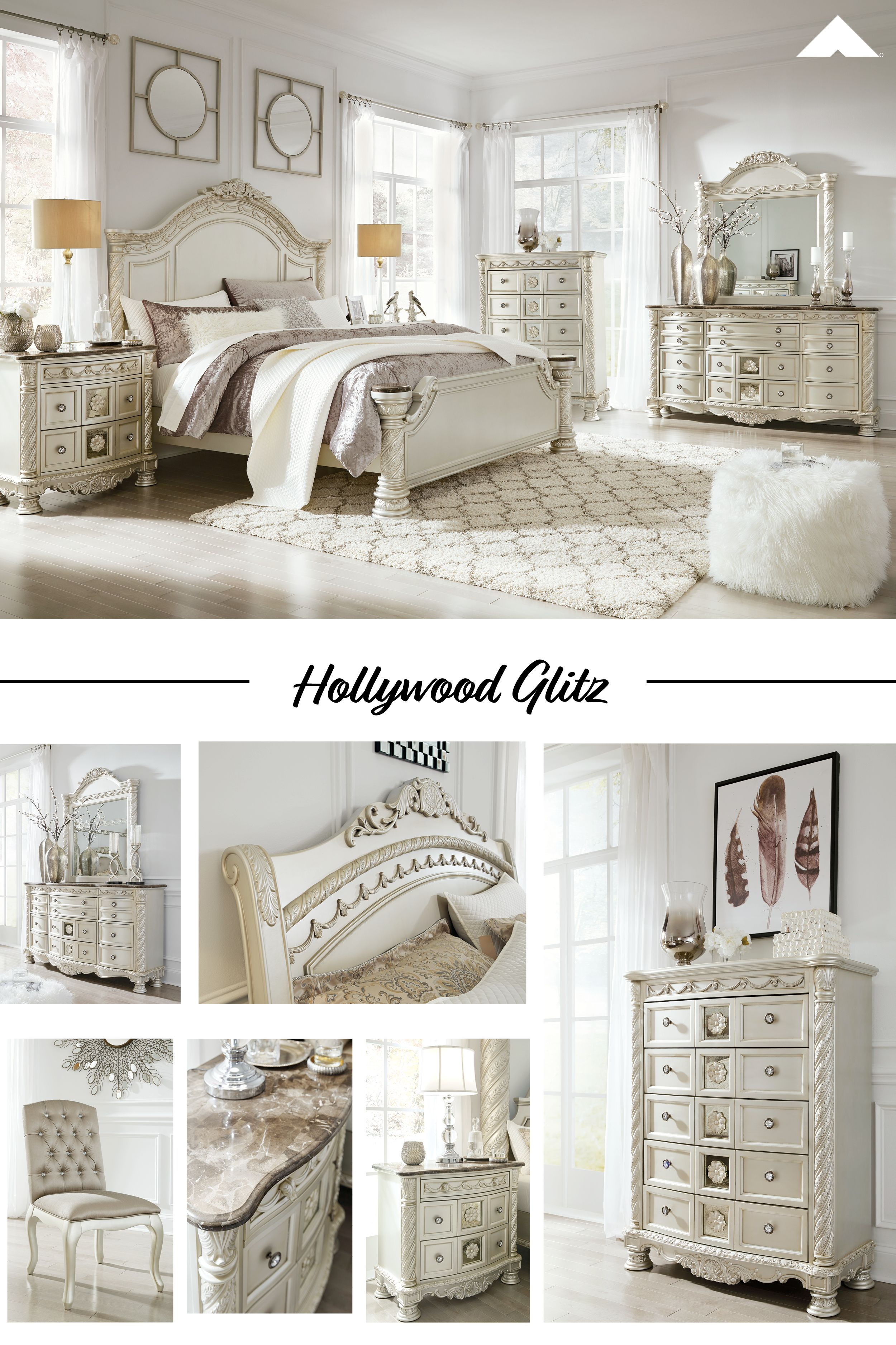 Cassimore Pearl Silver Bedroom By Ashley Furniture