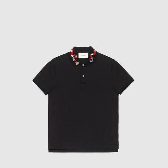 3a5bb9c669 Cotton polo with Kingsnake embroidery in 2019 | Rico's Faves | Polo ...