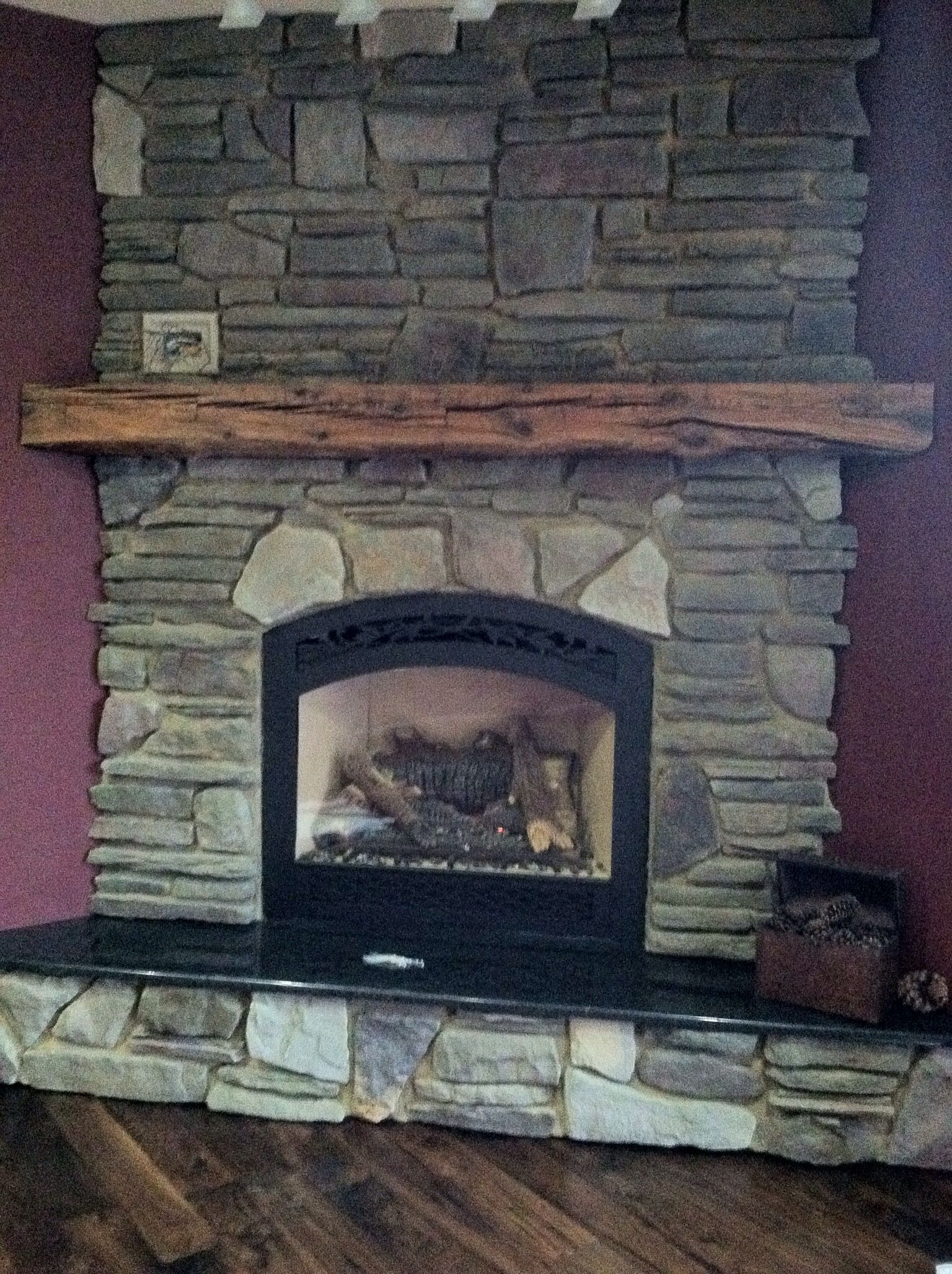 Used An Old Barn Beam For The Mantel Barn Beam Mantel