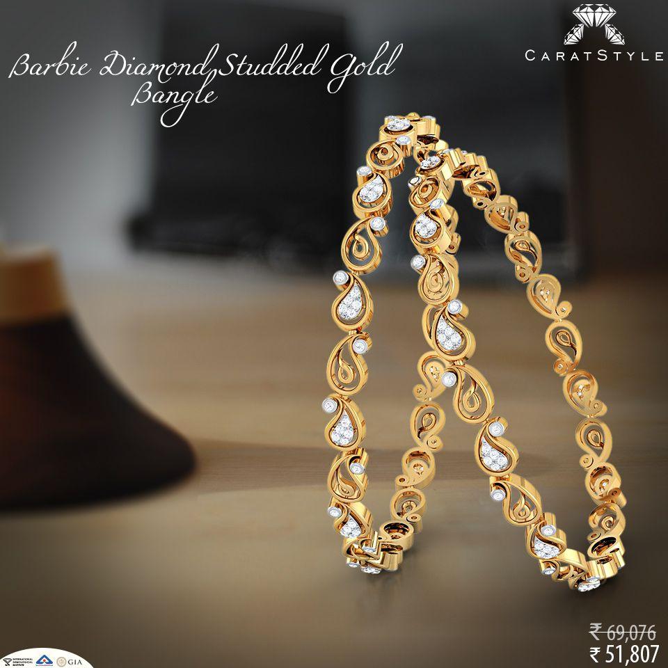 The Tradition of India gold diamond bangle Pinteres