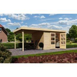 KARIBU Gartenhaus »Arnis 3 mit seitlichem Schleppdach (ca
