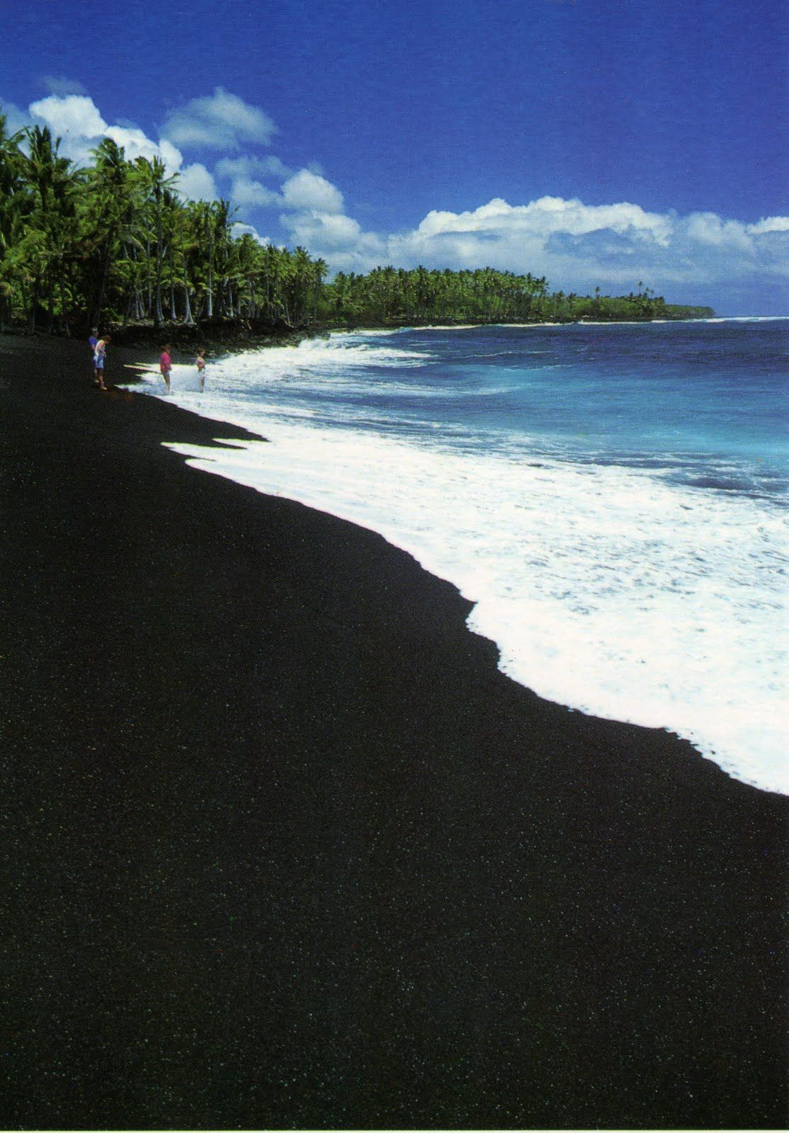 The Black Sand Beach Hawaii