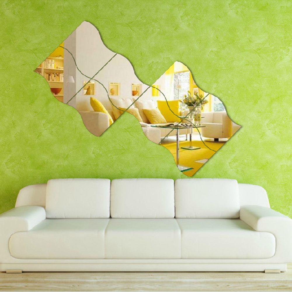 Cheapest waterproof 6pcs diy removable home wall mirror sticker cheapest waterproof 6pcs diy removable home wall mirror sticker art vinyl mural decor decal 9 amipublicfo Image collections