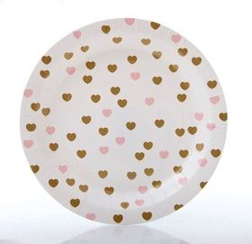 Superb Super Sweet And Perfectly Pretty Sweethearts Gold And Pink Paper Party  Plates! These Little Sweetheart Design