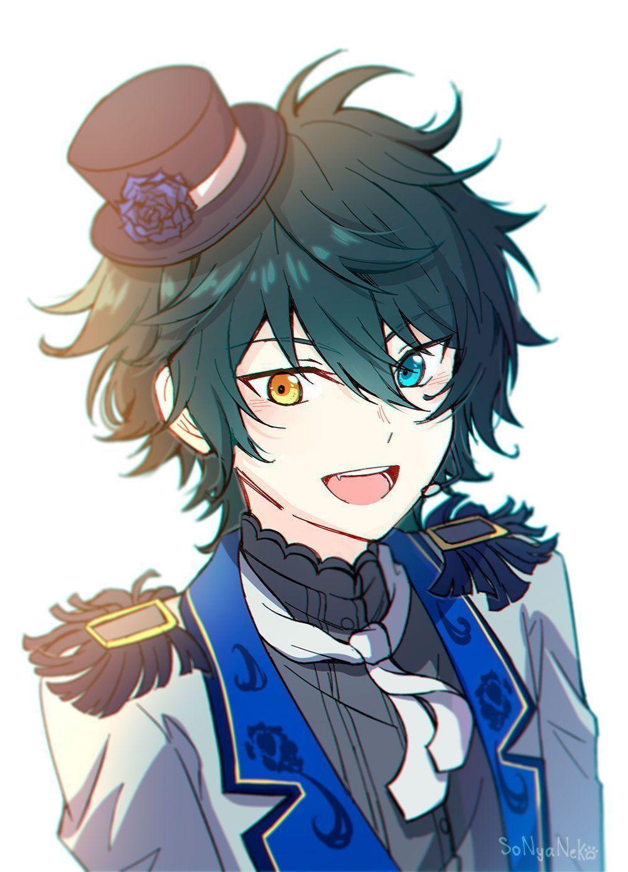 Anime Guy Black Hair Blue Eyes Anime Guy Black Hair In 2020 Anime Boy Hair Cute Anime Guys Anime Blue Hair