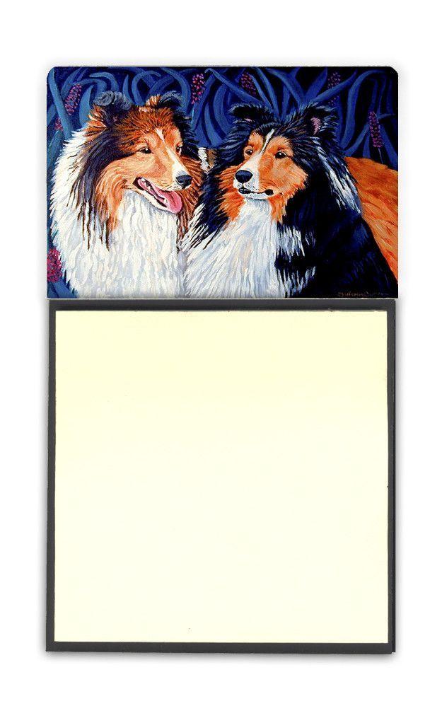Sheltie Refiillable Sticky Note Holder or Postit Note Dispenser 7508SN