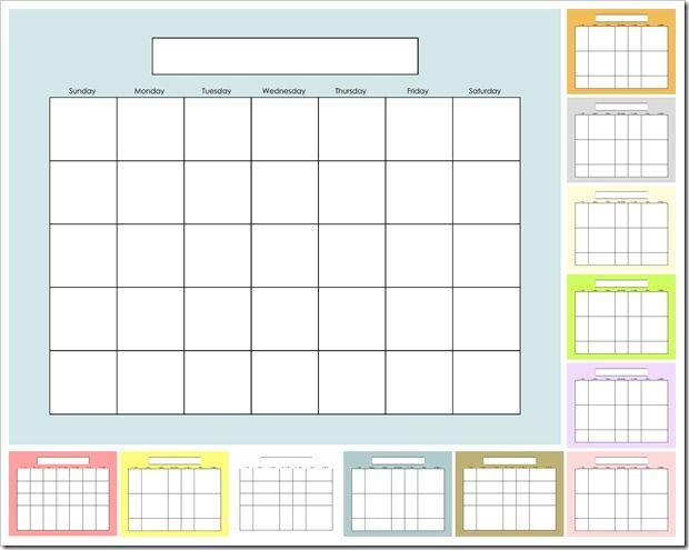 free printable Blank Calendar Escritorio Divertido Pinterest - Perpetual Calendar Template