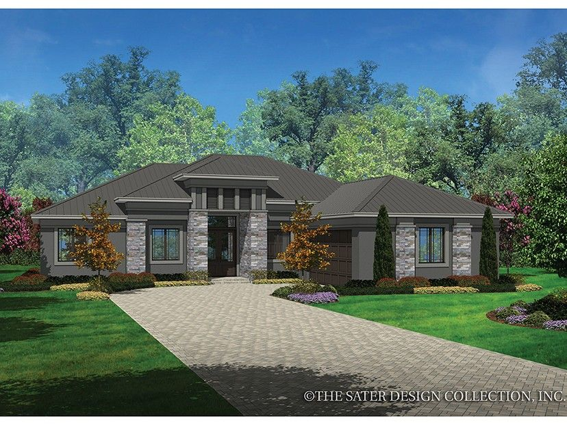 Eplans contemporary modern house plan prairie styling smart modern design 2042 square
