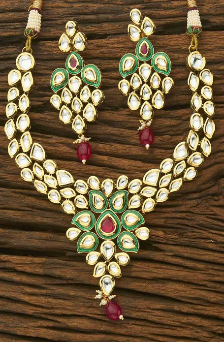 Shop online for Antique Classic Gold Plated Kundan ...