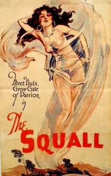 """Myrna Loy as gypsy Nubie (??) in 1929's """"The Squall"""""""