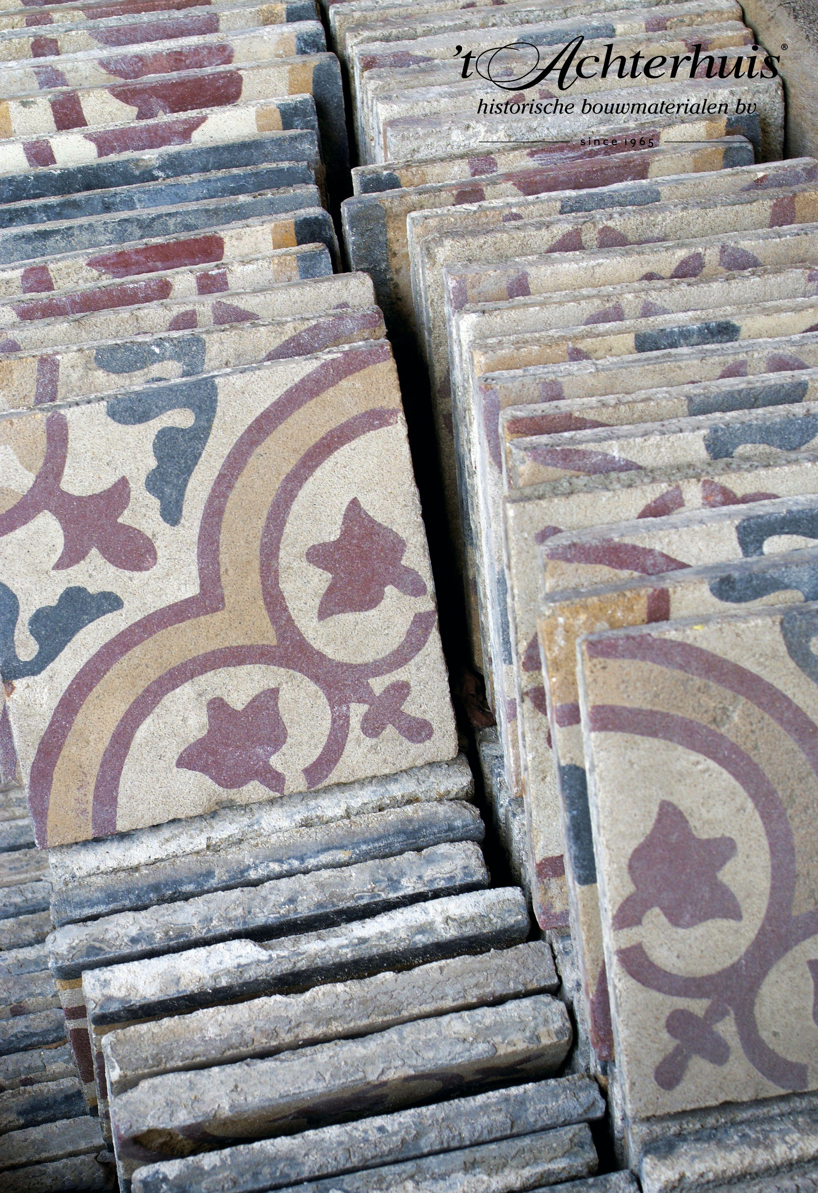 Motief vloeren floor tegels tiles oud old antiek for Antiek interieur