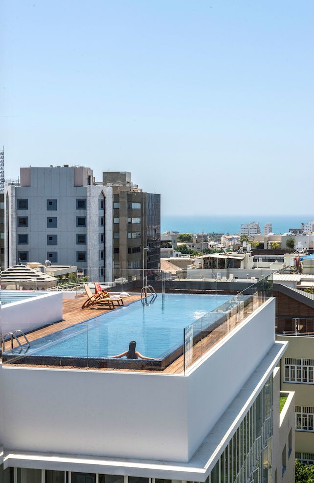 Rooftop swimming pool the norman hotel tel aviv israel townhouse pinterest tel aviv for Hotels in jerusalem with swimming pool