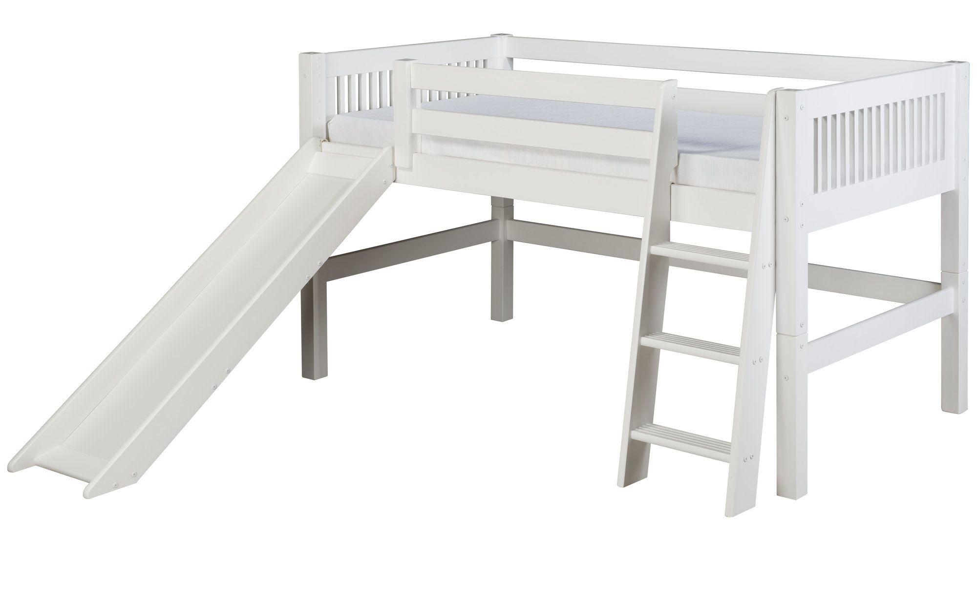 Kids metal loft bed with slide  Isabelle Low Loft Bed in   House  Kids  Pinterest  Low loft