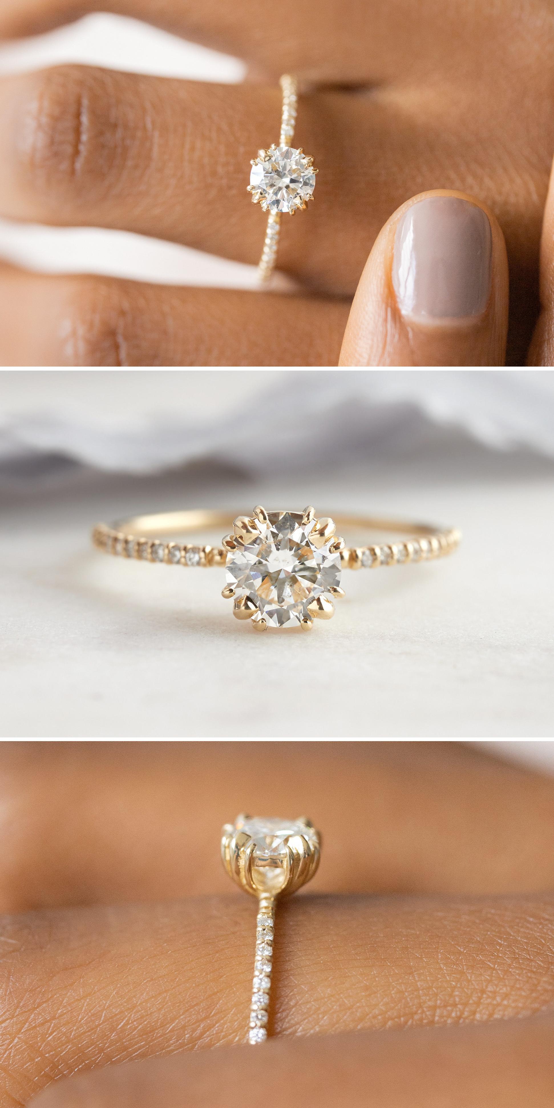 Verlobungsring Tropfen Engagementring In 2020 Vintage Engagement Rings 14k Yellow Gold Engagement Ring Aquamarine Engagement Ring