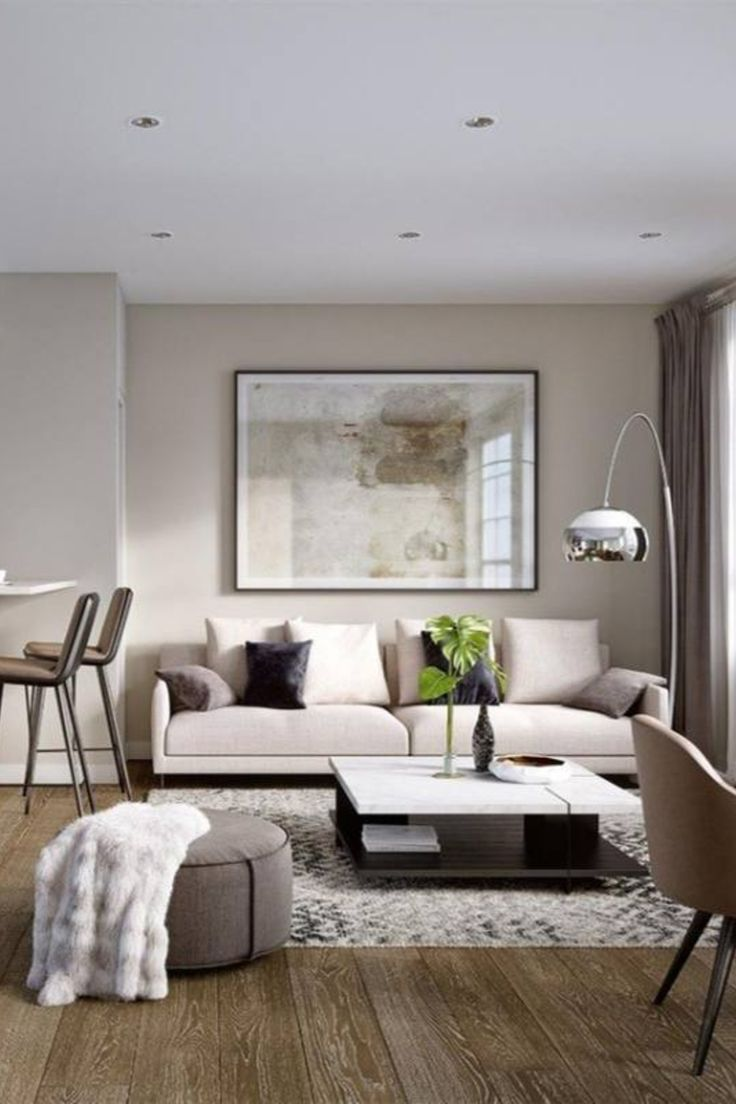 Living Room Design Contemporary: 51+ Neutral Living Room Decor Ideas