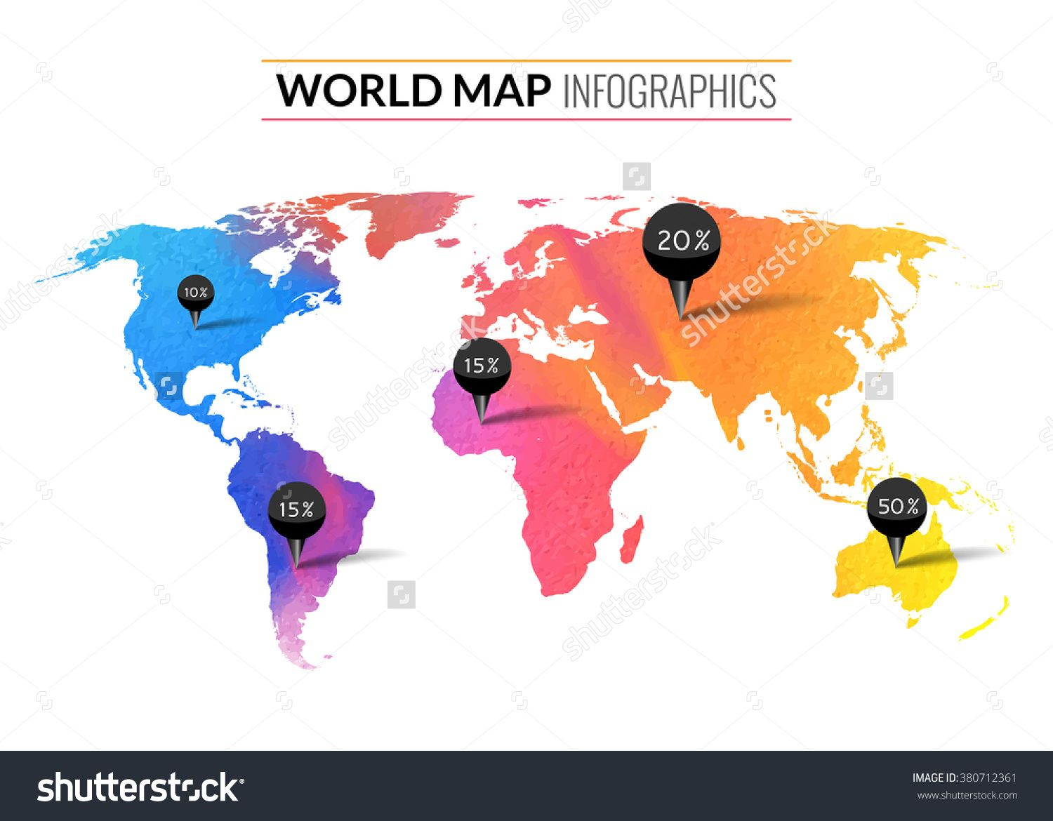 Imageutterstock z stock vector colorful vector watercolor colorful vector watercolor world map infographics world map wallpaper atlas travel earth buy this stock vector on shutterstock find other images gumiabroncs Image collections