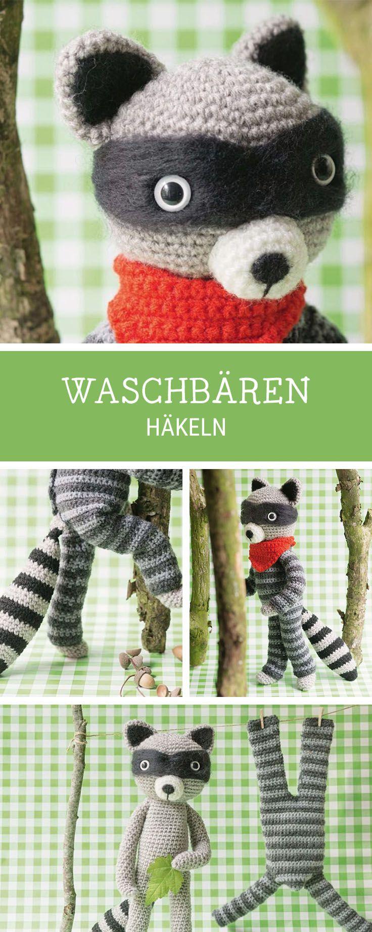 Häkelinspiration Diy Anleitung Für Einen Waschbär Amigurumi Häkeln