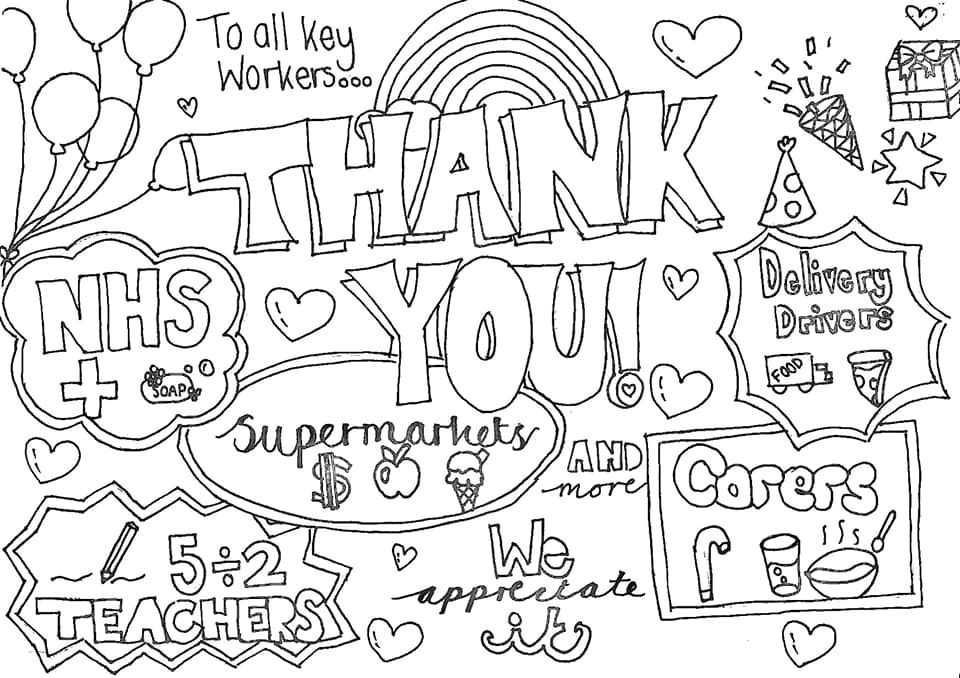 15++ Printable thank you nhs coloring pages ideas