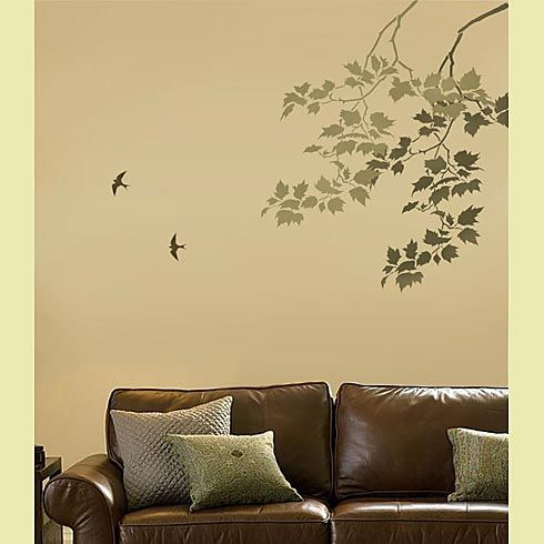Sycamore Weeping Branch Stencil - another option for over Eggi\'s ...