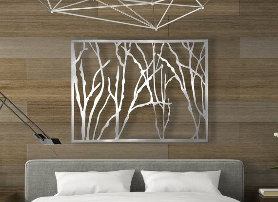 laser cut metal decorative wall art panel sculpture for home office indoor or outdoor use sticks - Decorative Wall Art