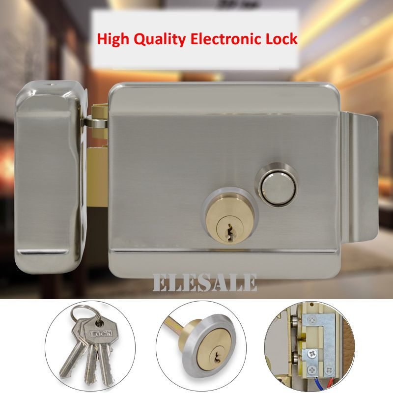 Brand New Electric Control Lock Electronic Magnetic Door Lock For 12v Dc Access Control System Video In Access Control Magnetic Door Lock Access Control System