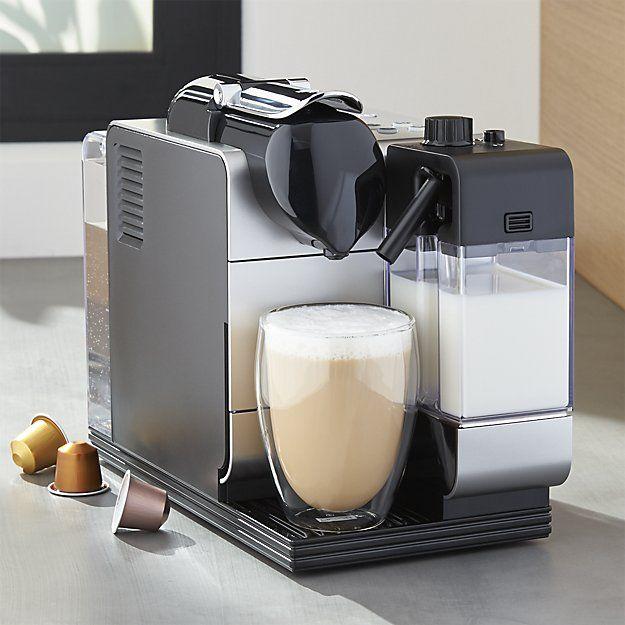Delonghi Silver Nespresso Lattissima Plus Espresso Maker Crate And Barrel Espresso Maker Best Espresso Machine Nespresso Lattissima