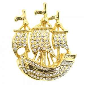 Vintage Sailing Ship Pin Brooch