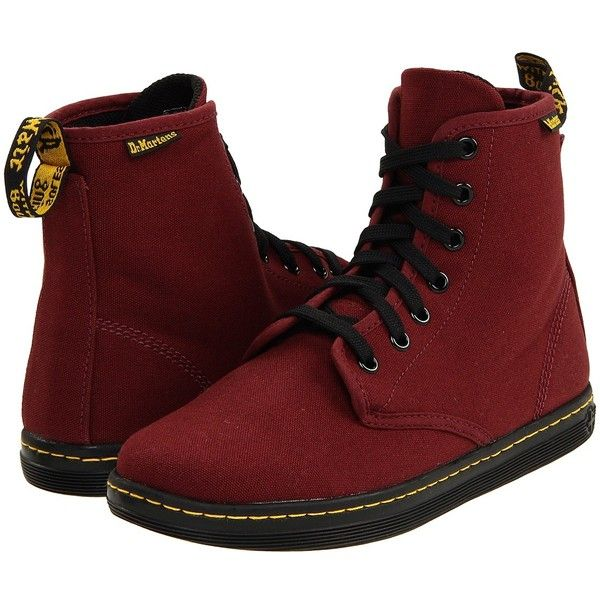 Dr. Martens Shoreditch (Cherry Red/Canvas) Women's Lace-up Boots (