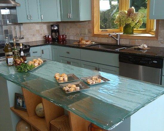 3 I love these glass countertops | To Break Bread | Pinterest ...
