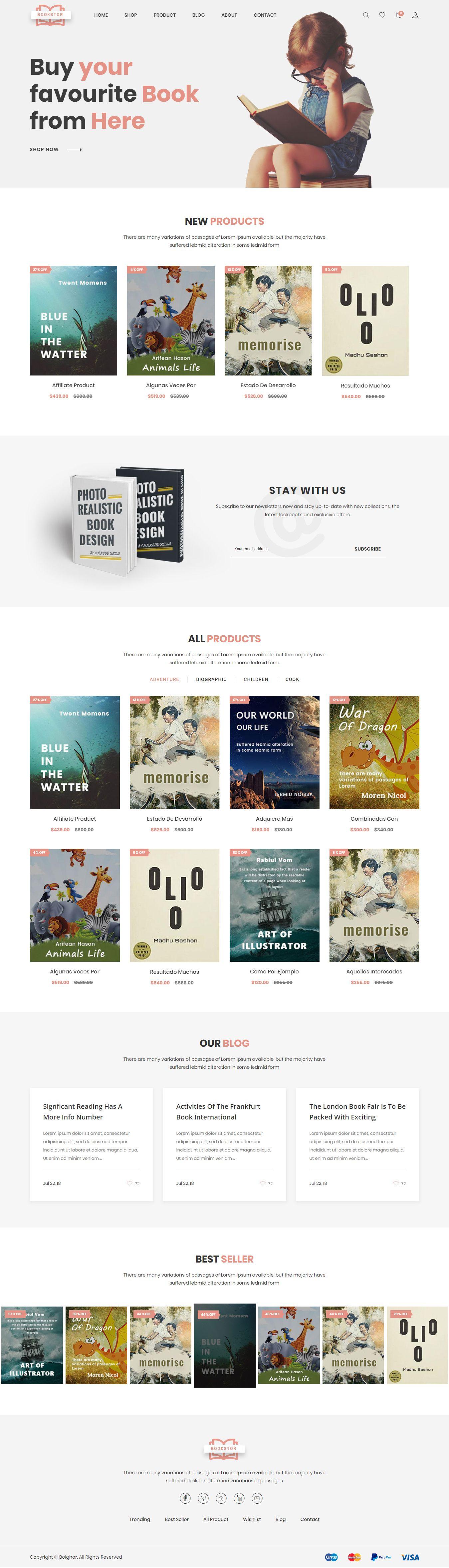 Boighor – Books Library Shopify Theme is a responsive Shopify theme