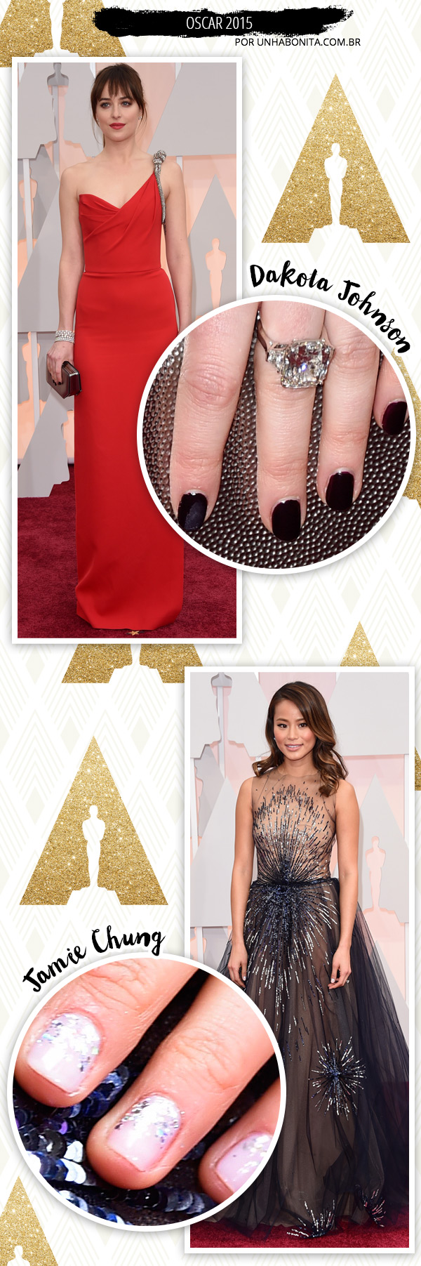 Oscar 2015: unhas, esmaltes e beauté das celebridades!