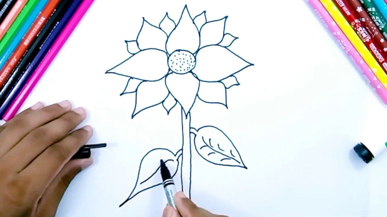How To Draw Sunflower Easy Pencil Drawing For Kids#draw #drawing #easy #kids #pencil #sunflower#draw #drawing #easy #kids #kidsdraw #pencil #sunflower
