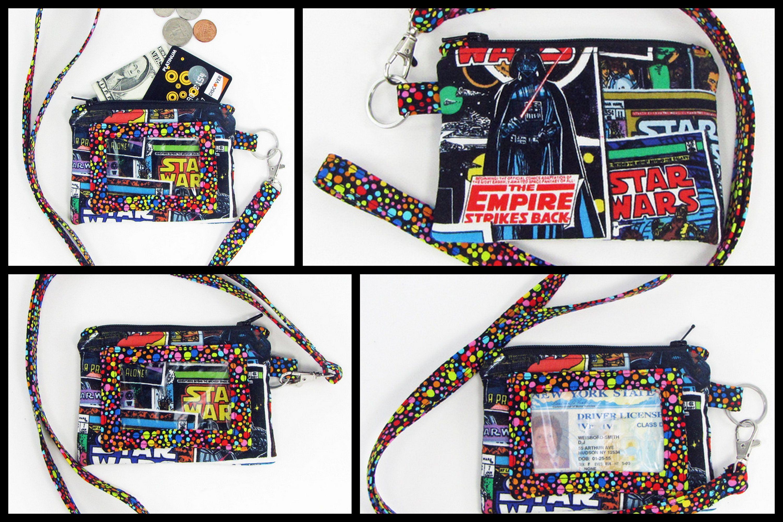 Wallet LanyardID cards holdersmall fabric walletStar Wars