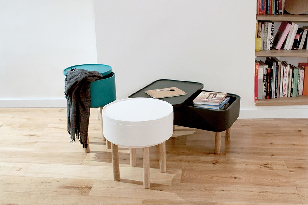 Unas #mesitas multifuncionales, para que escondas tus objetos favoritos. Ideales para darle un toque diferente a tu salón.