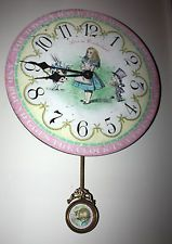 ALICE IN WONDERLAND TIMEWORKS STORYTIME COLLECTION WALL CLOCK, 13 INCH