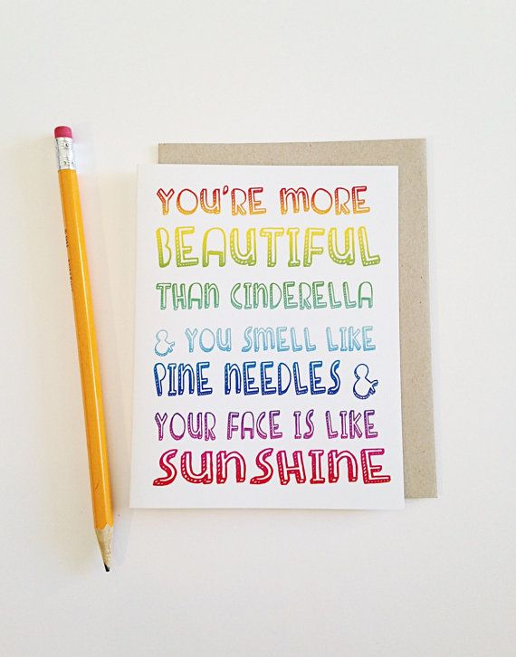 Funny Birthday Day Card- Bridesmaids quote- You are more beautiful