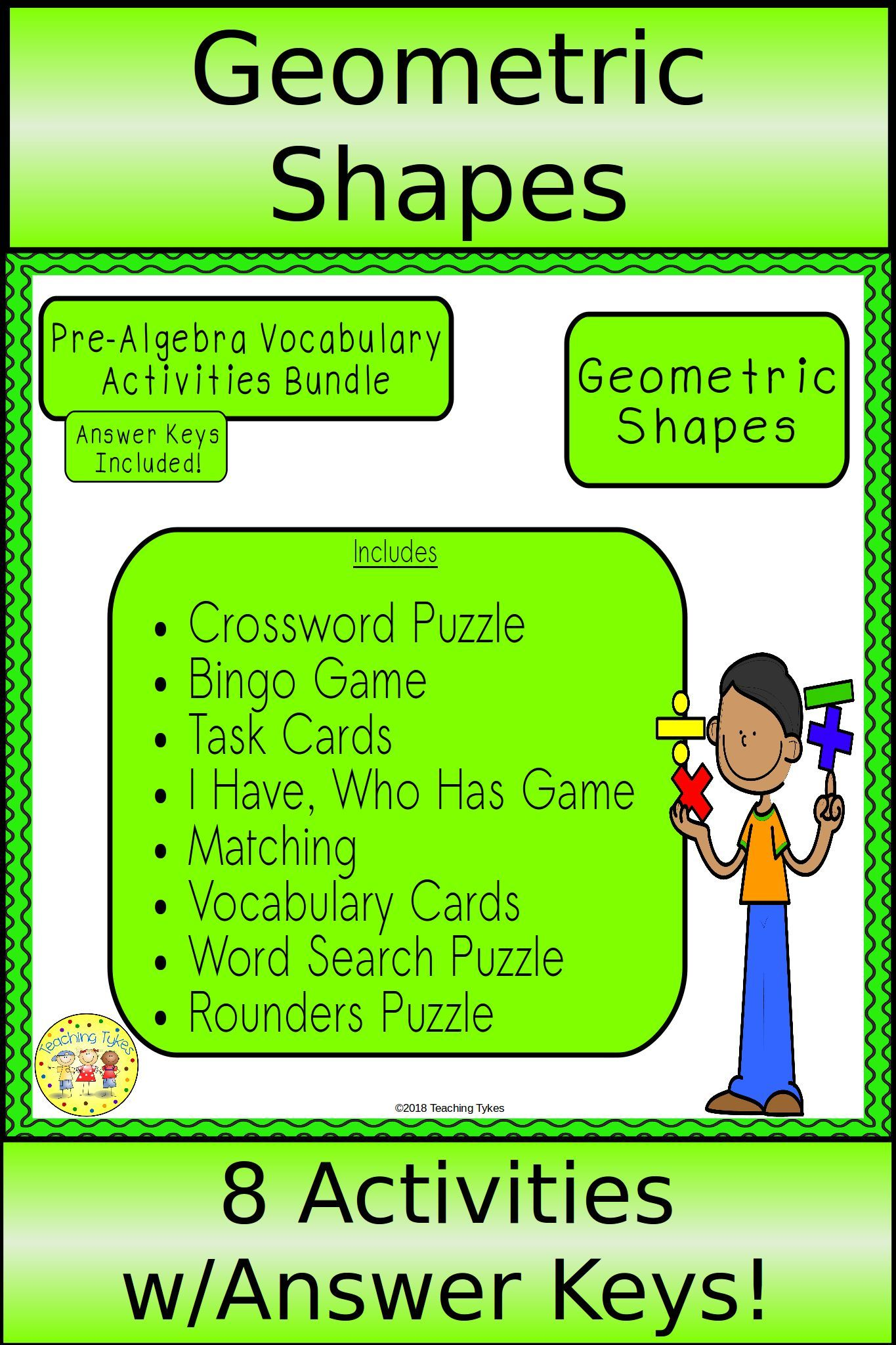 Geometric Shapes Pre Algebra Bundle