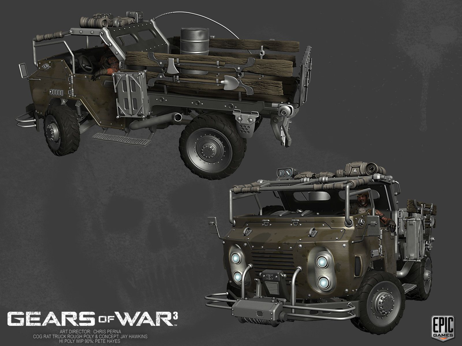 Artstation Gears Of War 3 Vehicles Pete Hayes Gears Of War Gears Of War 3 Vehicles