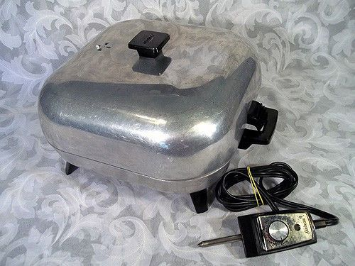 Sold Vintage Sunbeam Aluminum Electric Skillet Fry Pan